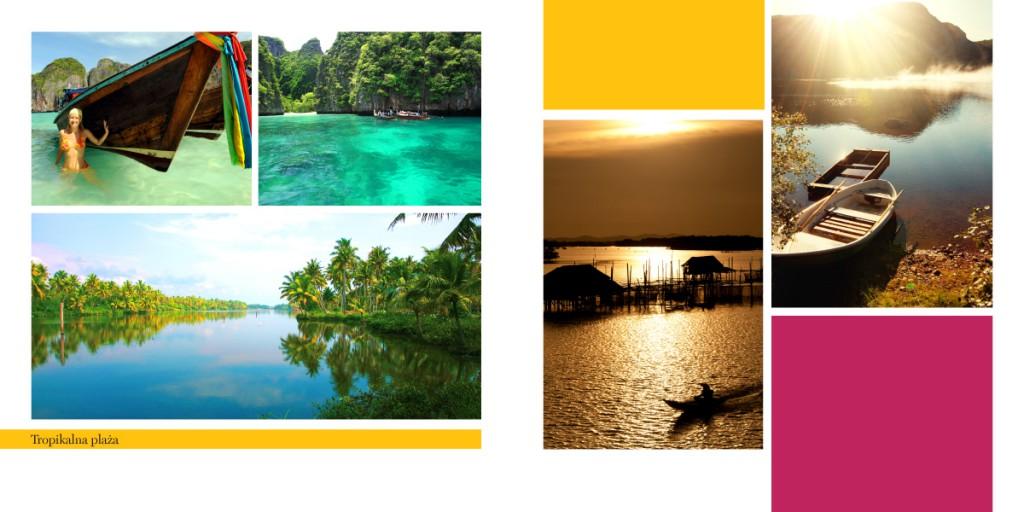 Przykład fotoksiążki z krajobrazami tropikalnymi.