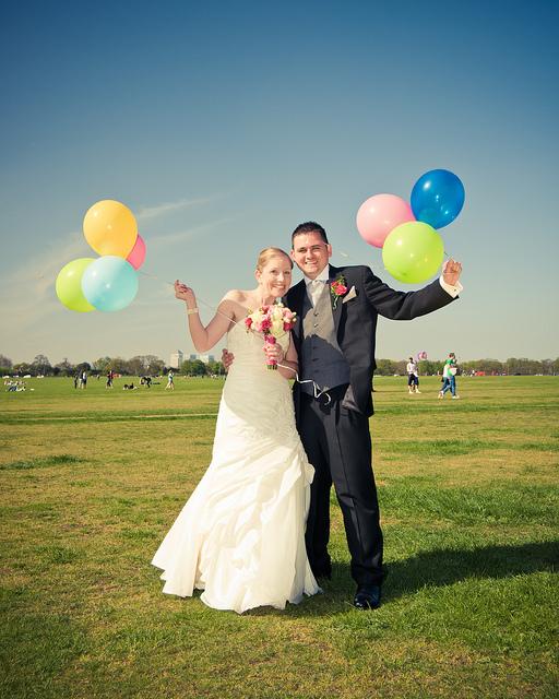 balony do sesji ślubnej