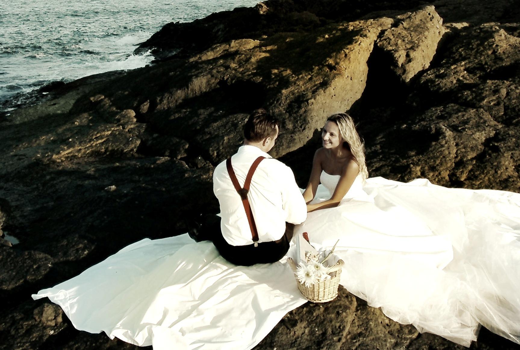 sesja ślubna morze
