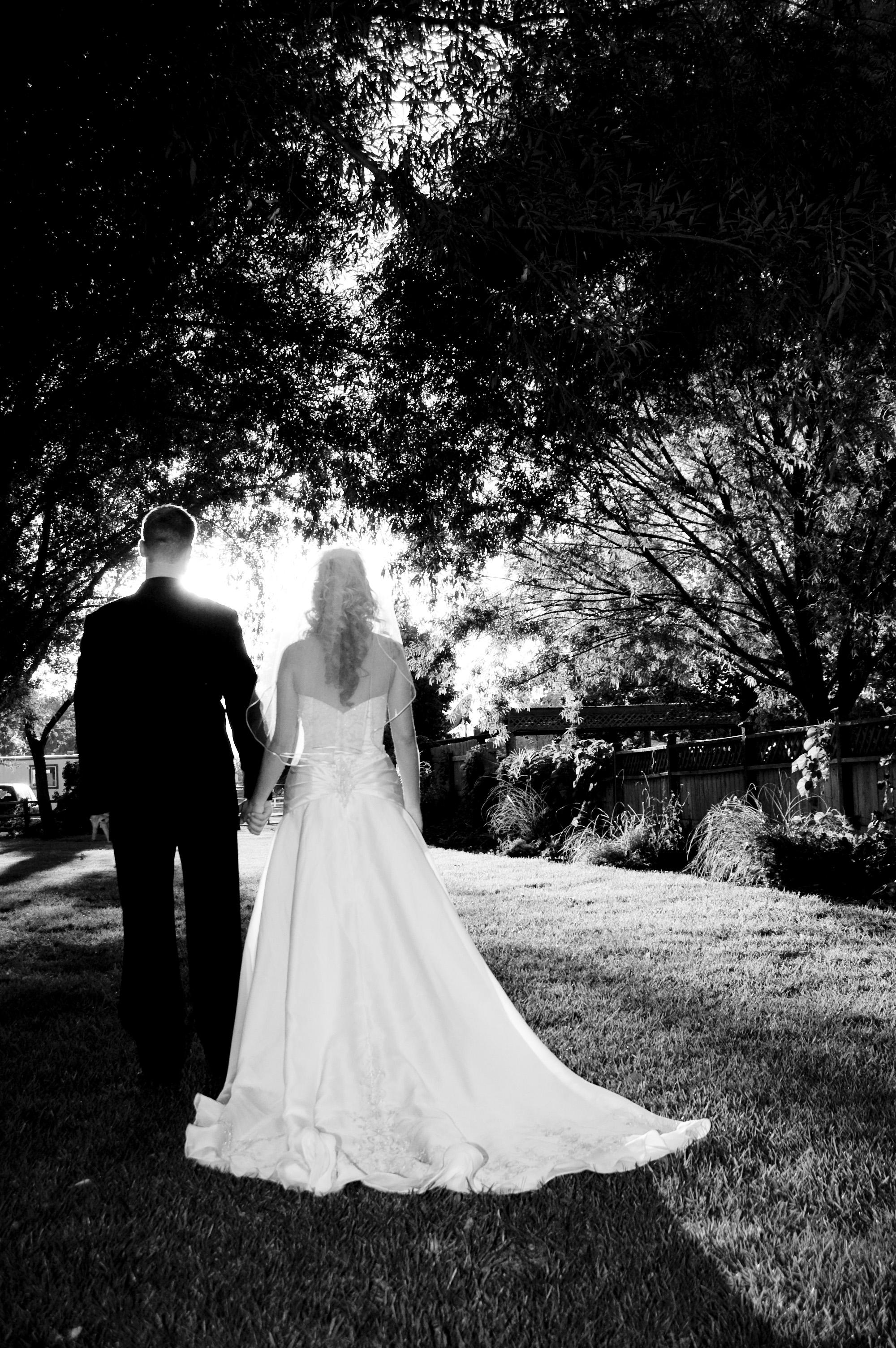 zdjęcia ślubne czarno-białe