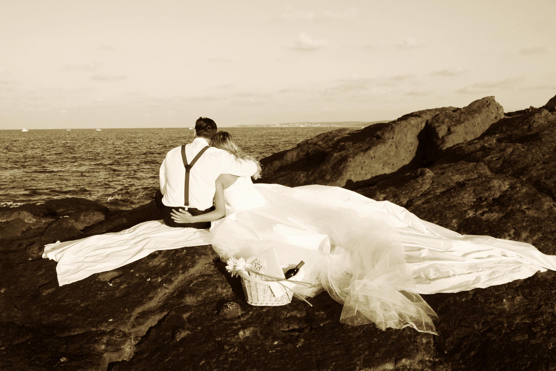 zdjęcia ślubne sepia